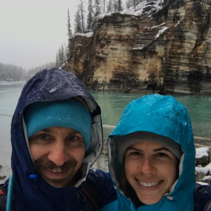 Athabasca falls selfie 1