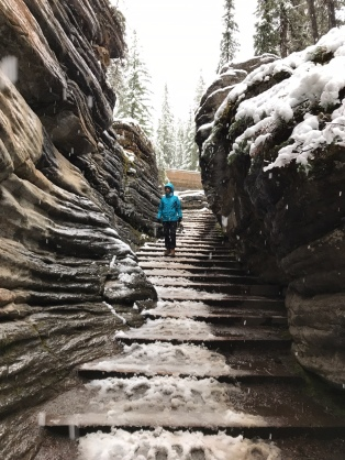 Athabasca falls stairs