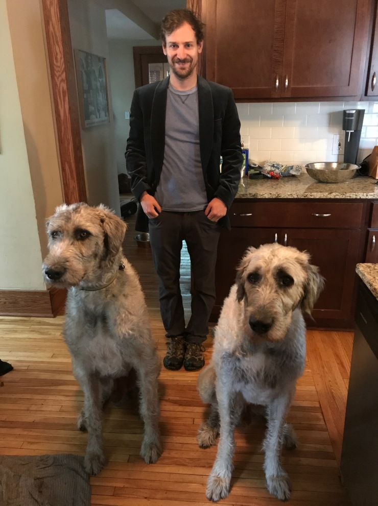 Minn guy with dogs